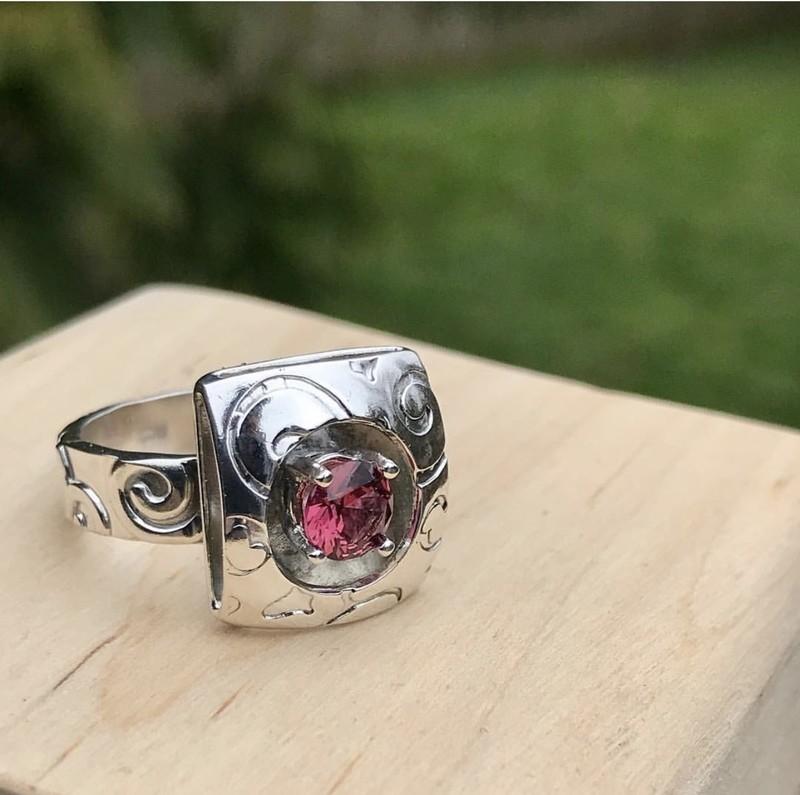 Rhodolite Garnet Ring size 7.5