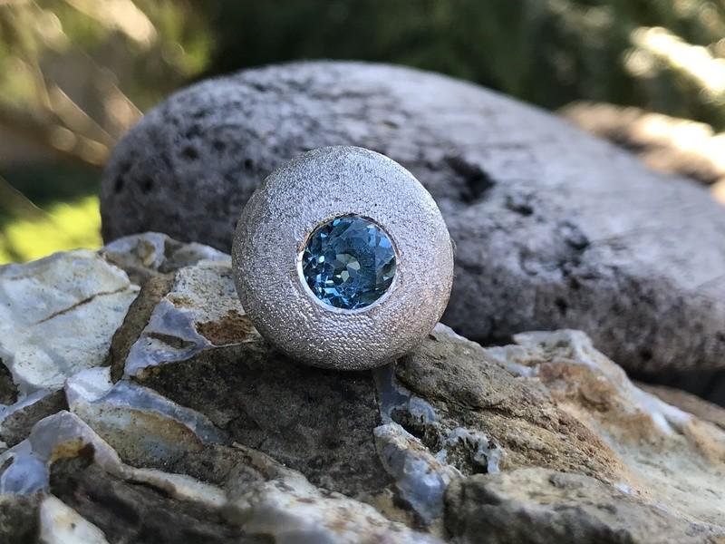 Swiss Blue Topaz Ring
