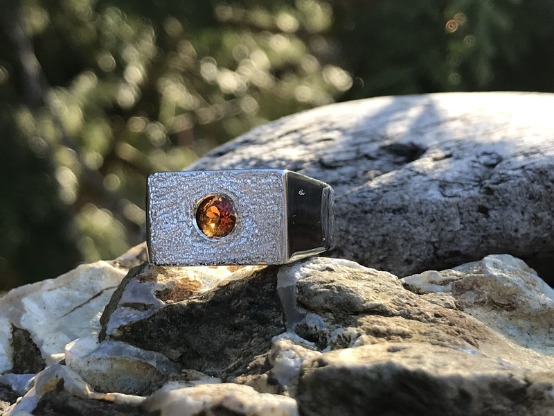 Fire Citrine Ring