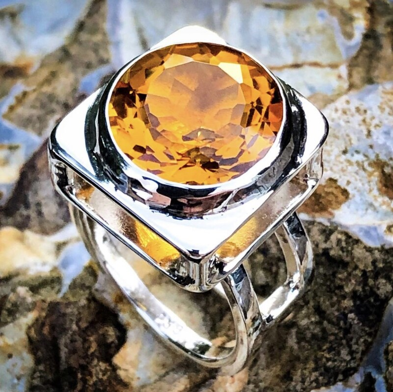 Madeira Citrine Ring