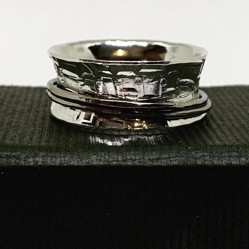 Anti Clastic Ring Argentium Sterling Silver and Titanium