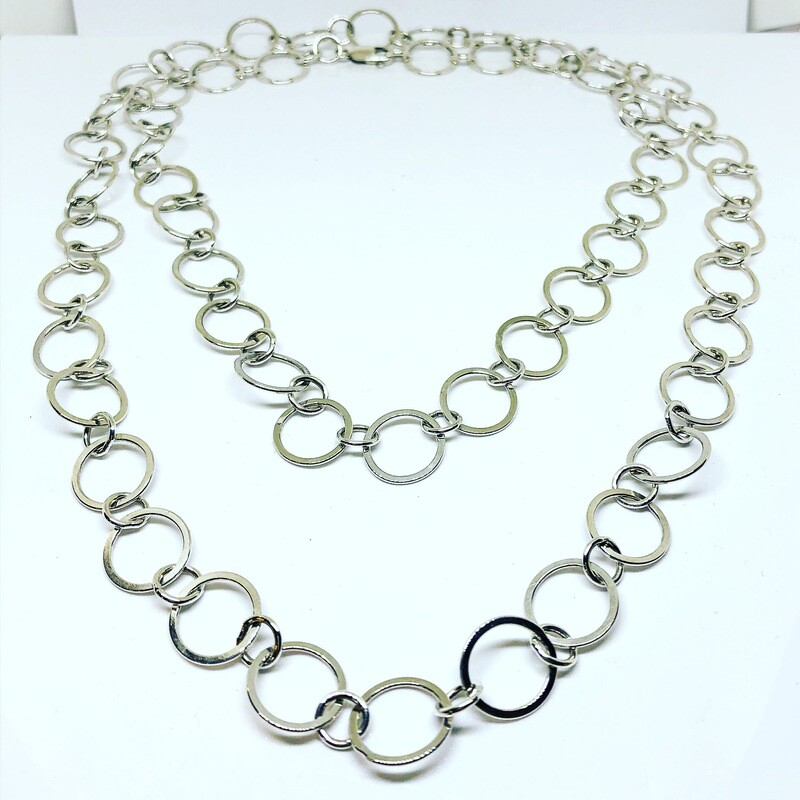 "42"" Argentium Sterling Silver Chain"