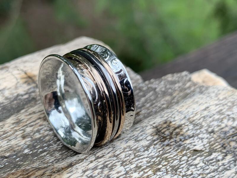 Anticlastic Ring With Bronze And Titanium