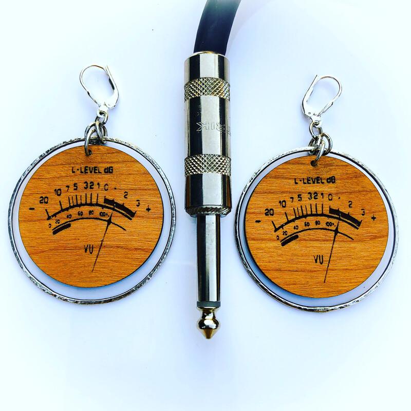 VU meter earrings