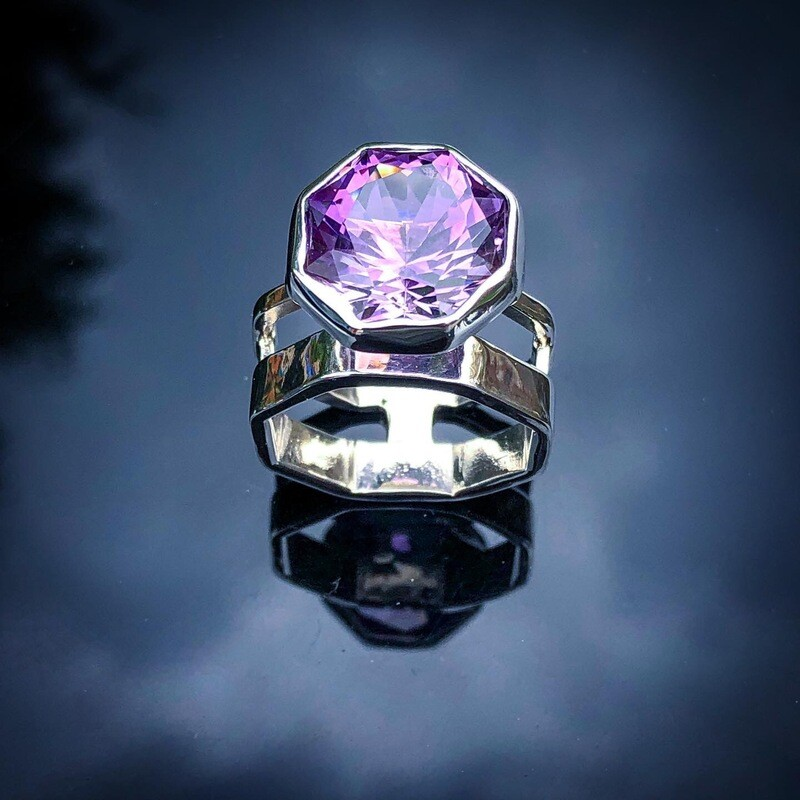6.8 cts. Amethyst Ring Size 7
