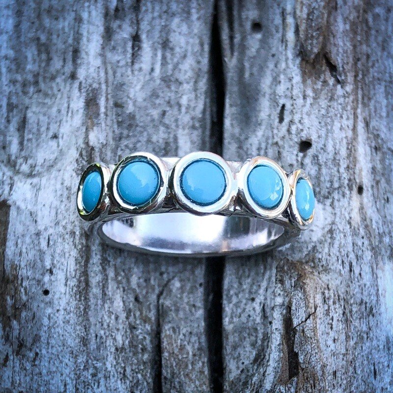 Blue Turquoise  Ring size 7