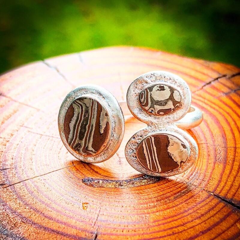 Mokume Gane Ring Size 7.5