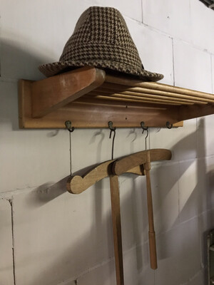 Vintage kapstok bruynzeel