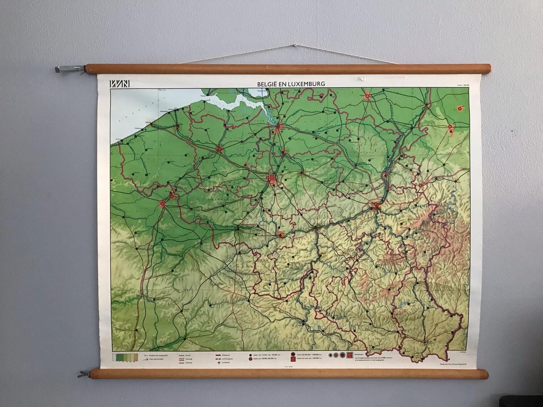 Landkaart België en Luxemburg