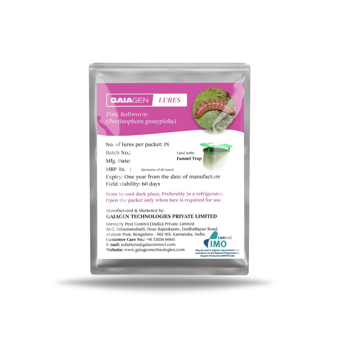 GAIAGEN Lures - Pheromone Lure for Pink Bollworm (Pectinophora gossypiella) | (Does not Include Traps)