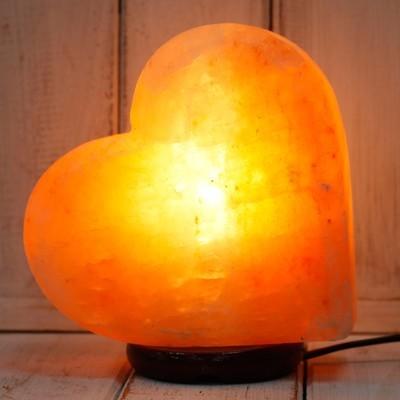 Crafted Salt Lamp - Heart Shape