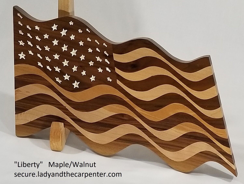 """Liberty"" (Waving Flag Wall Art)"