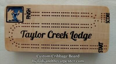 Cribbage Board - logo custom