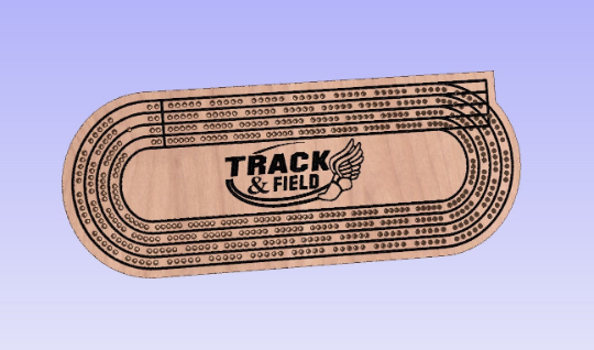 Track and Field Cribbage Board