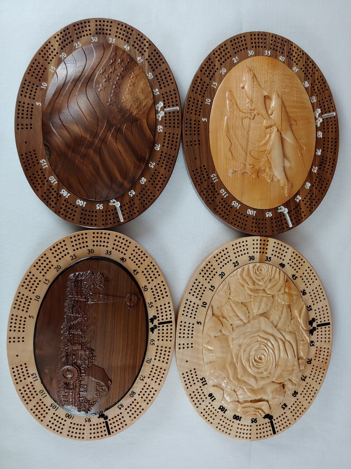 Oval Cribbage Board