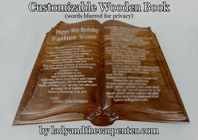 Open Book - Customizable Book