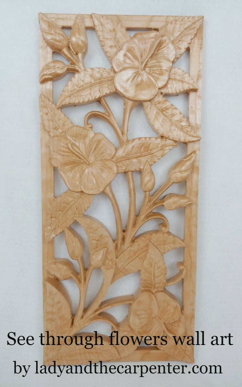 See Through Flowers Wall Art
