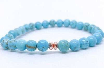 Waves Bracelet - Turquoise & Hematite