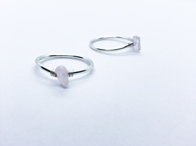 Perfect Love -- Rose Quartz Ring . // . Simple, Stacking Rings . // . Statement, Dainty Crystal Healing, Unconditional Love