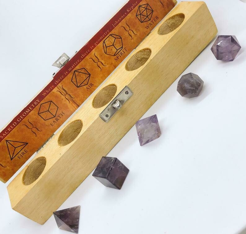 Amethyst Sacred Geometry Crystal Box Set .//. Gifts that Give Back - Plant a Tree .//. Healing Crystals