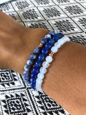 Shoshin Bracelet Stack .//. Healing Crystal Gemstone Bracelets .//. Gifts that Give Back - Plant a Tree