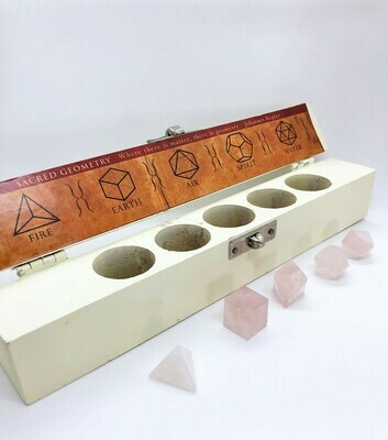 Rose Quartz Sacred Geometry Crystal Box Set .//. Gifts that Give Back - Plant a Tree .//. Healing Crystals
