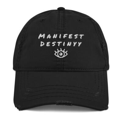 Manifest Destiny distressed ball cap
