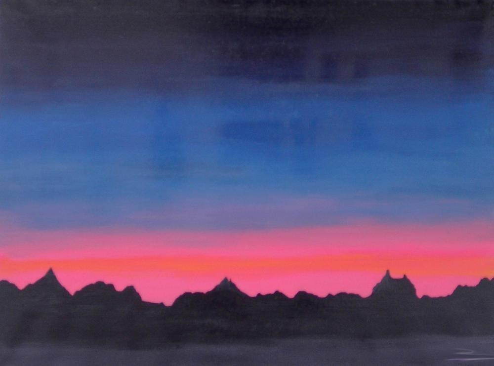 "Tablou abstract gata de inramat ""Inserat"", 60x80cm, pictat manual de DOBOS"