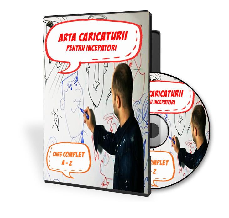 Curs video ARTA CARICATURII PENTRU INCEPATORI - CURS COMPLET DE LA A LA Z
