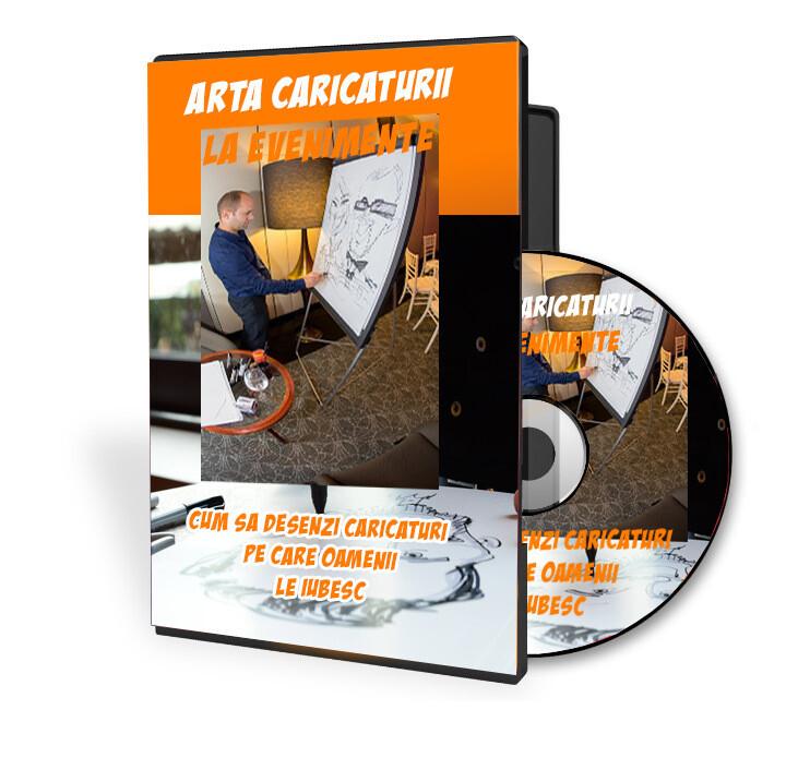 Curs video ARTA CARICATURII LA EVENIMENTE- CUM SA DESENEZI CARICATURI PE CARE OAMENII LE IUBESC