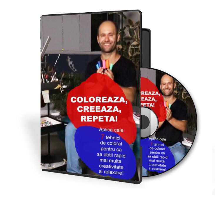 Curs video 7 TEHNICI DE COLORAT: COLOREAZA, CREEAZA, REPETA +