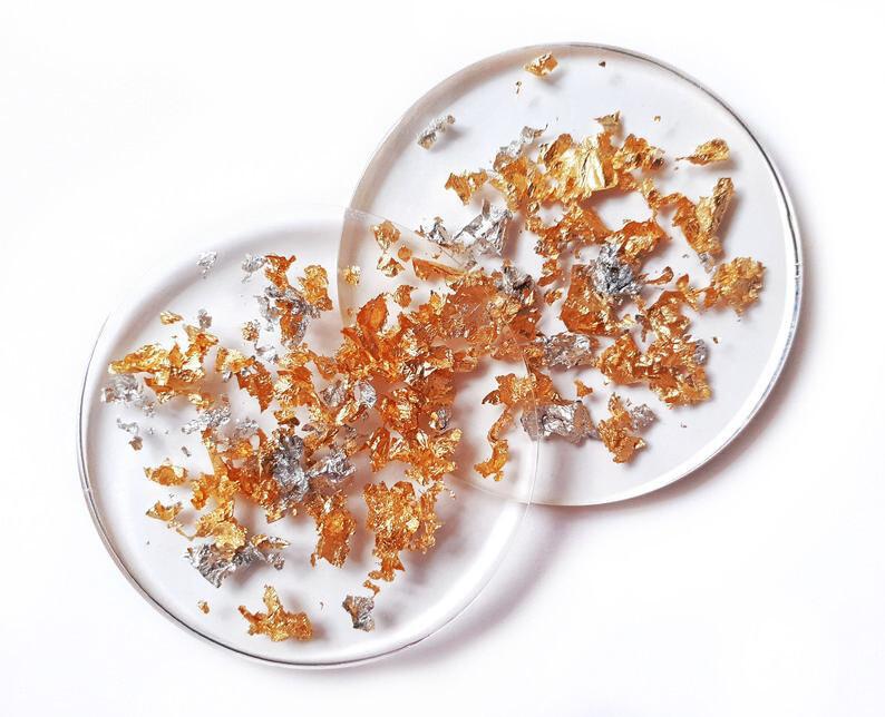 Set 2 farfurioare decorative transparente, 10cm,