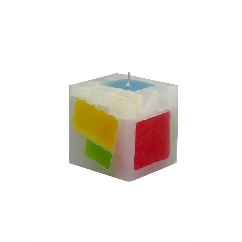 Lumanare decorativa Cub Mexic, parfumata, multicolor