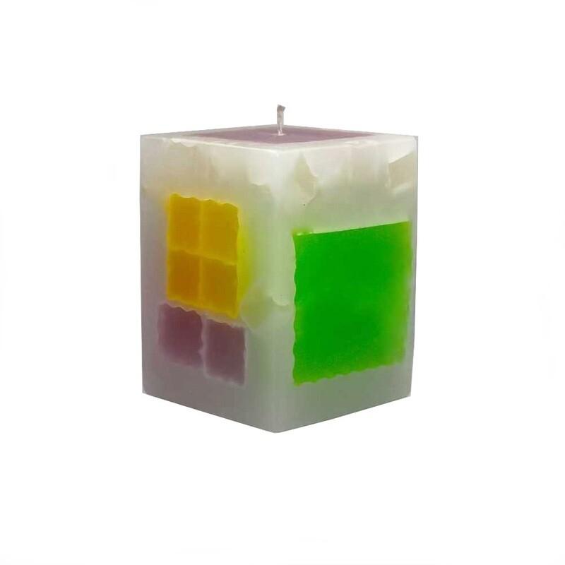 Lumanare decorativa Cub Mexic mare, parfumata, multicolor
