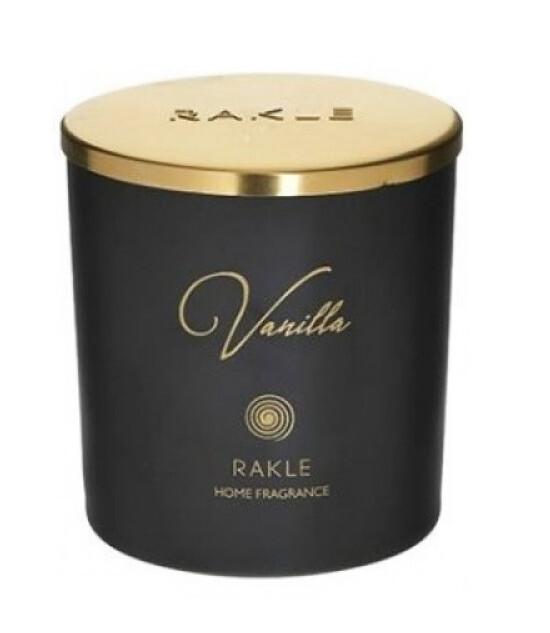 Lumanare parfumata Rakle, borcan sticla, vanilla