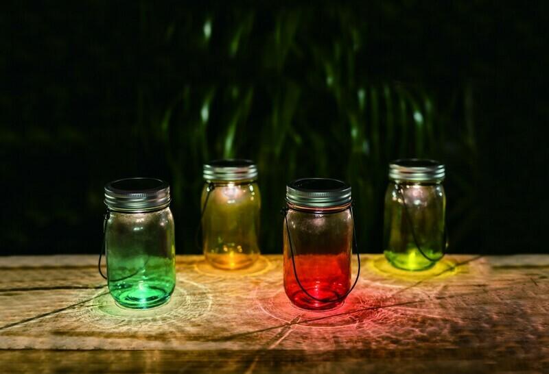 Lampa solara exterior, microLED, multicolor