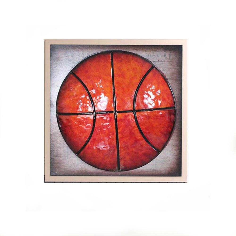 "Tablou modern ""Baschet"", 30 x 35cm, realizat manual, tehnica mixta"
