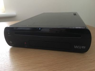 Black 32GB Nintendo Wii U Console Only FAULTY No Picture via AV or HDMI Port