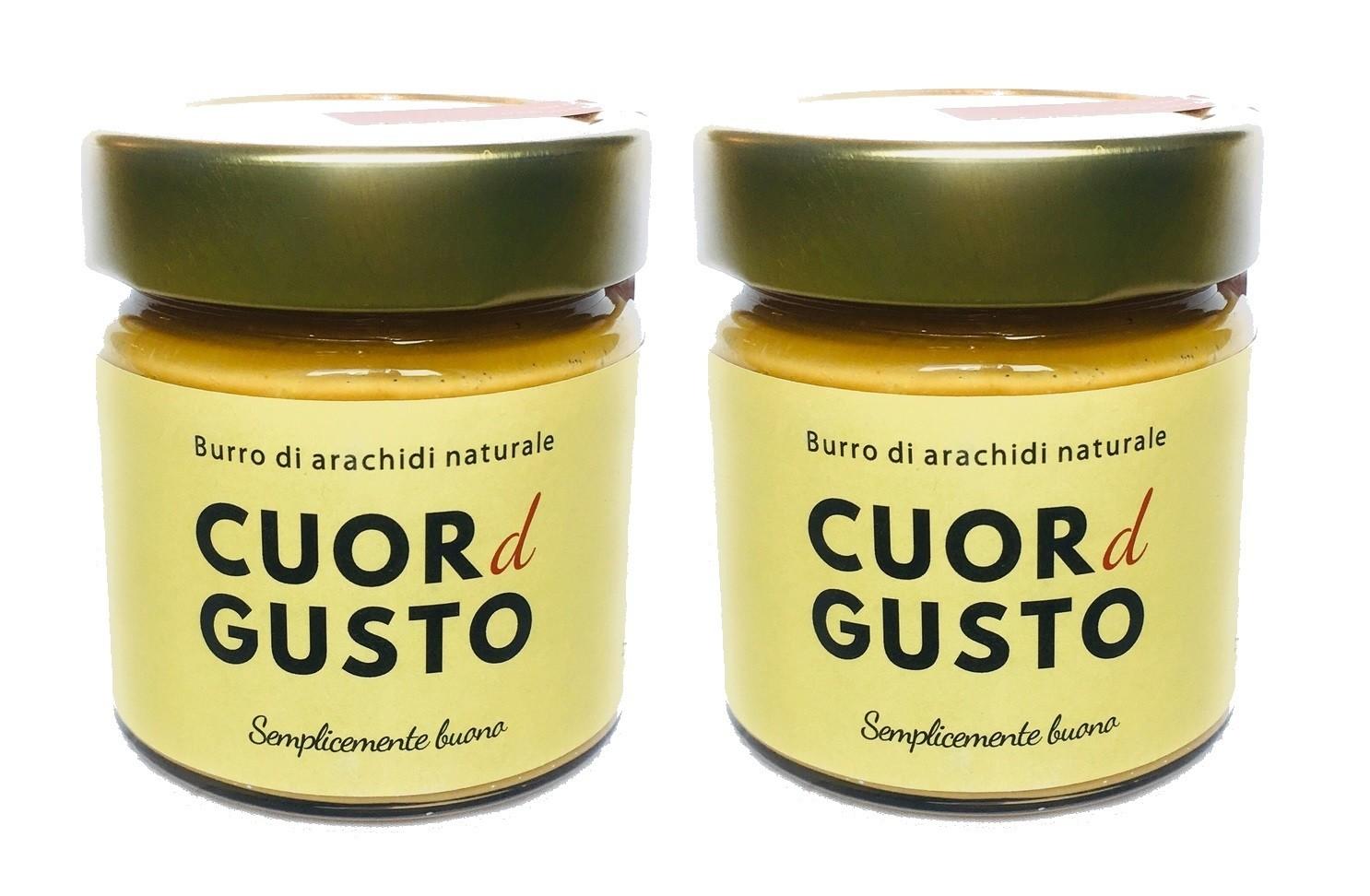 Burro di arachidi naturale Italiano, x2 vasetti 250g