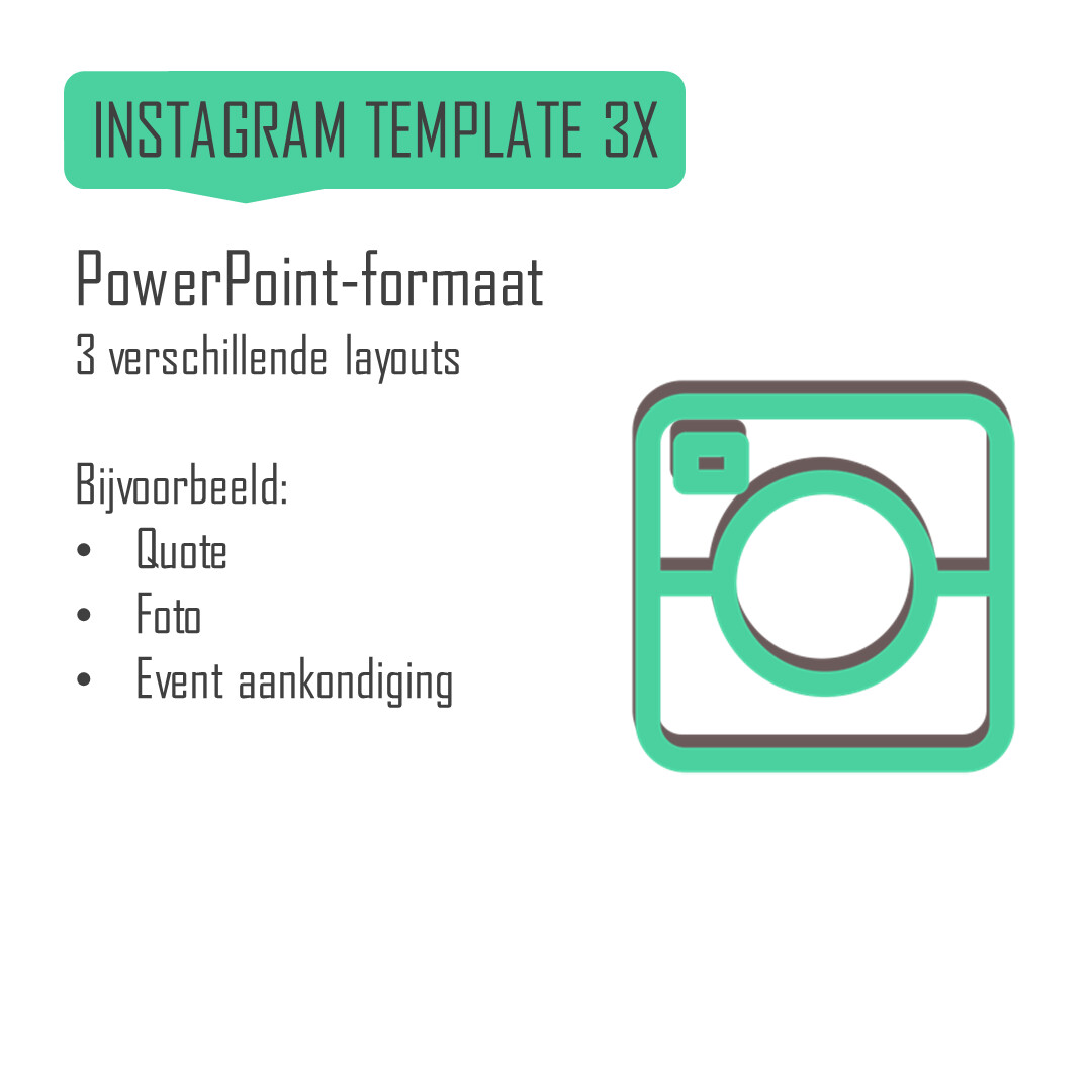 Instagram template (3 layouts)