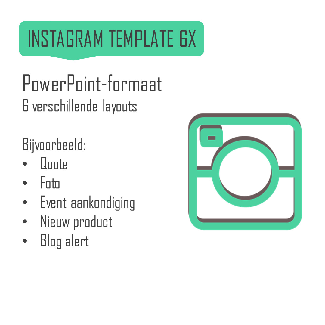 Instagram template (6 layouts)