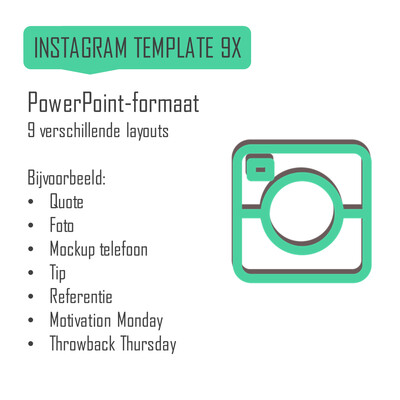 Instagram template (9 layouts)