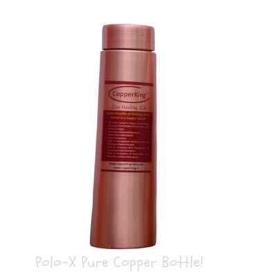 CopperKing Polo-X Pure Copper Water Bottle – 900ml Best Use for Office, School, Yoga, Gym,