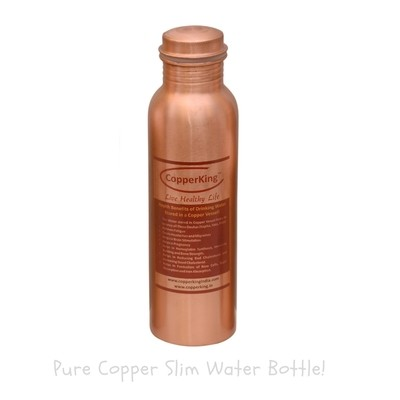 CopperKing Pure Copper Slim Water Bottle – 600ml