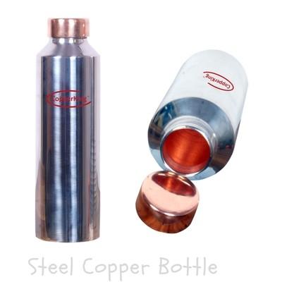 CopperKing Plain Steel Copper Water Bottle 900ml.