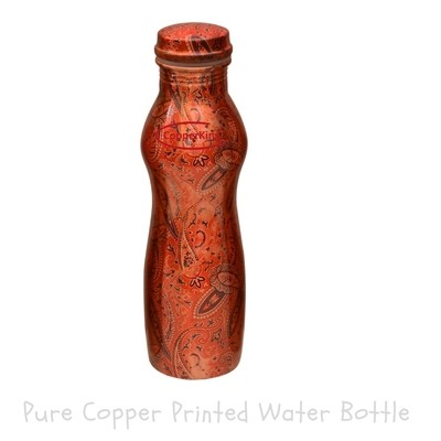 CopperKing Pure Copper Curvy Printed Copper Water Bottle – 950ml