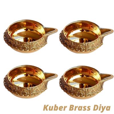 Laxmi Kuber Brass Niranjan Diya. Set Of 4.