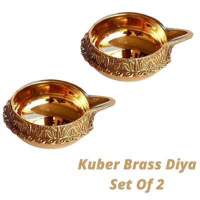 Laxmi Kuber Brass Niranjan Diya. Set Of 2.
