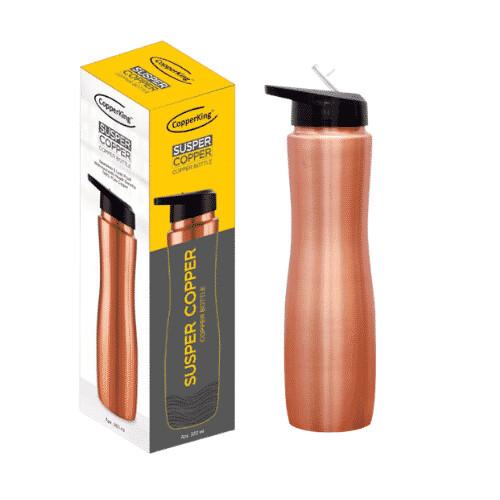 CopperKing Copper Sipper Water Bottle 1000ml, Best For Yoga/Sports.