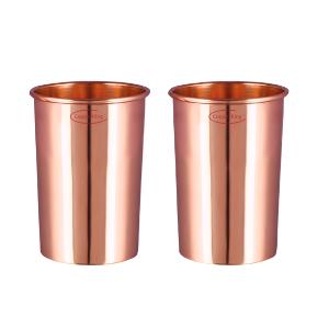 High-Quality Pure Copper Plain Glasses Set Of 2